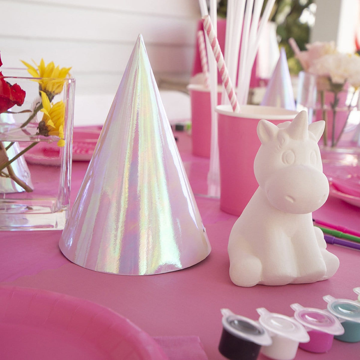 Classic Party:  Pottery + Colorful Party Supplies