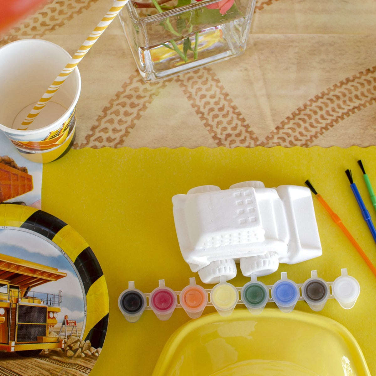 Blowout Bash:  Pottery Party + Construction Themed Party Supplies