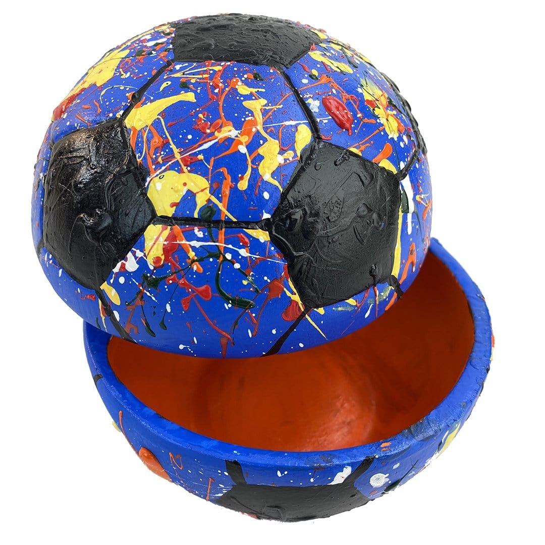 """Sports Fanatic Kit - Soccer Edition"" Customized Pottery Painting Kit"