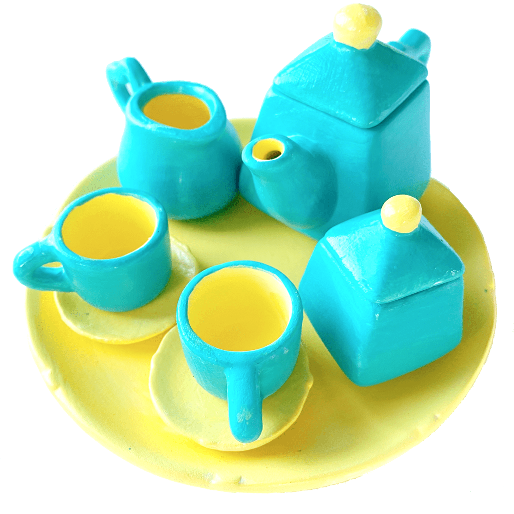La Petite Tea Set Customized Pottery Painting Kit