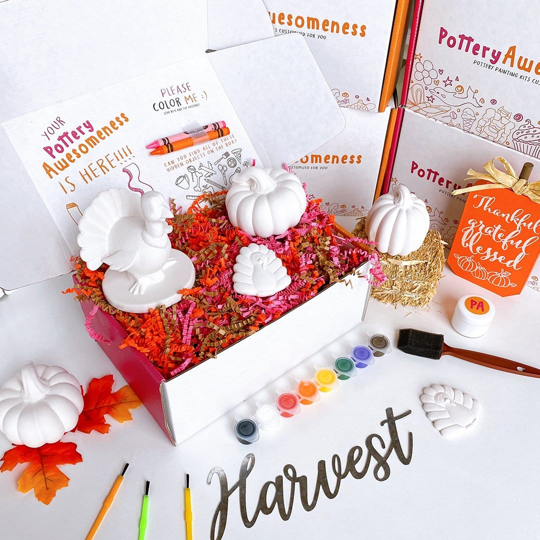 Thanksgiving Customized Pottery Painting Kit