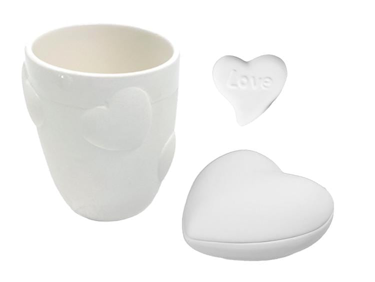 Valentine's Customized Pottery Painting Kit