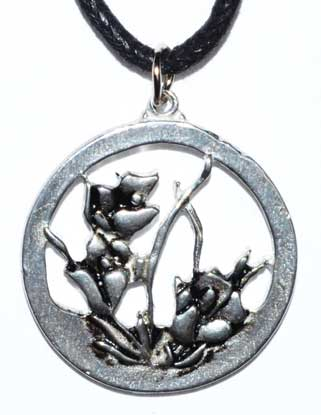 "1"" Flower In Circle Amulet"