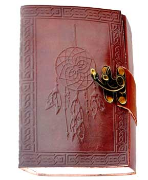 "5"" X 7"" Dream Catcher Embossed Leather W- Cord"