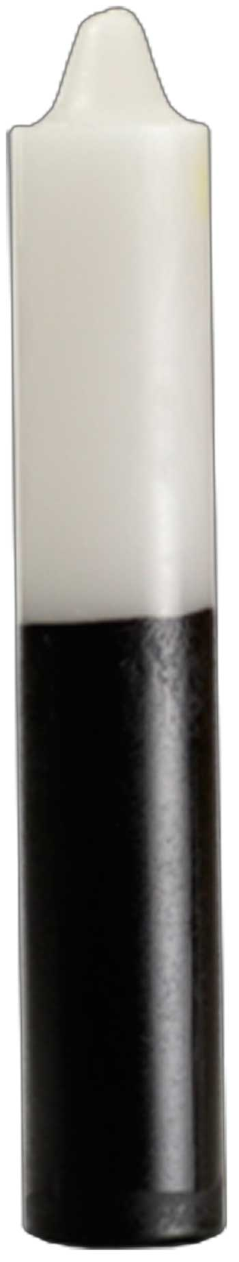 "9"" White- Black Pillar Candle"