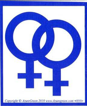 Female-female Bumper Sticker