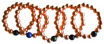 10mm Copper With Asst Stone Bracelet