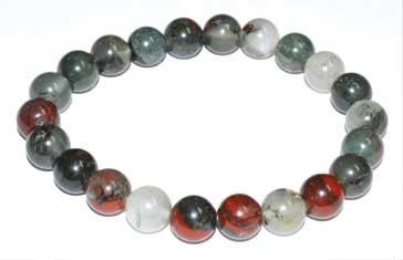 8mm Bloodstone (seftonite) Bracelet
