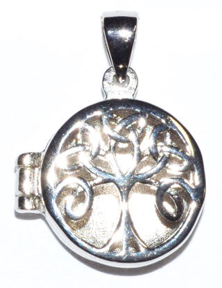 "3-4"" Celtic Tree Of Life Locket Sterling Pendant"