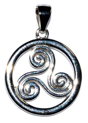 "5-8"" Trinity Spiral Sterling Pendant"