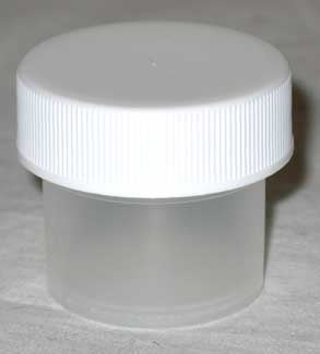 Plastic Wide Top Bottle 1-4oz (2 Dram)