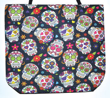 "14"" X 16"" Day Of The Dead Jute Tote Bag"
