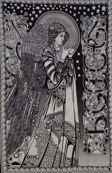 "54"" X 86"" Peace Angel Black-white"