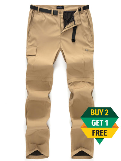 "2-in-1 ""Zip-Off"" Waterproof Cargo Pants"
