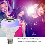 LED Music Bulb With Bluetooth Speaker Light Bulb Colorful Lamp With Remote Control For Home, Bedroom, Living Room, Party Decoration