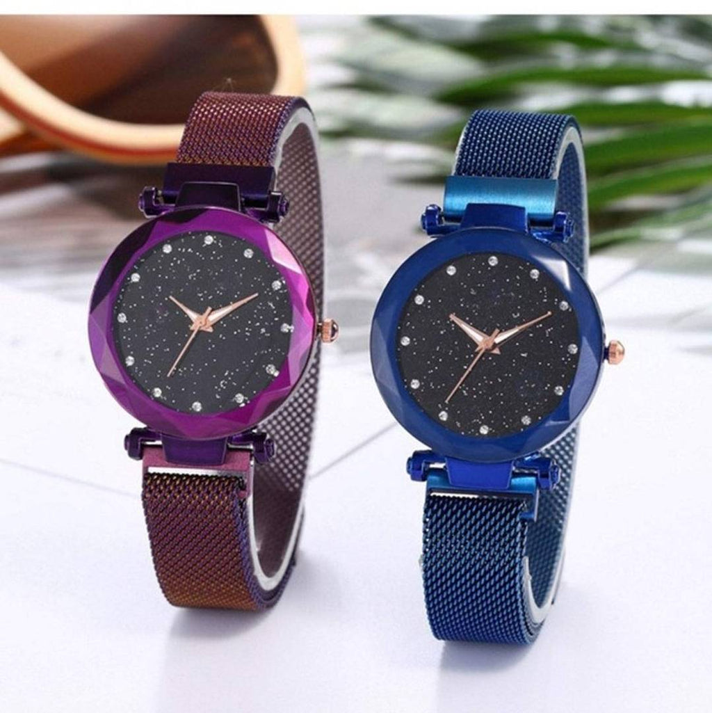 Beautiful and Stylish Magnetic Strap Analog for Women's (Pack of 2)
