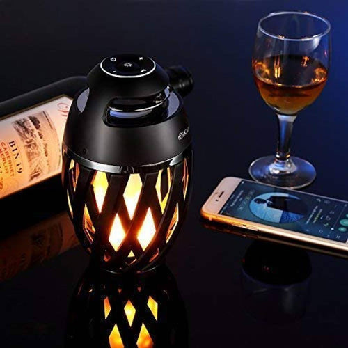 Premium Bluetooth Speaker With Beautiful Flame Lamp