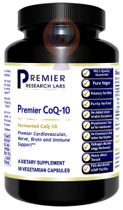 CoQ-10, Premier-Supplement-PRL Labs-Raise the Bar Wellness