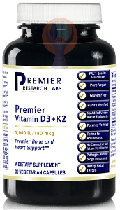 Vitamin D3+K2, Premier-Supplement-PRL Labs-Raise the Bar Wellness