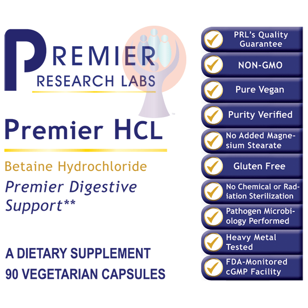 HCL, Premier-Supplement-PRL Labs-Raise the Bar Wellness
