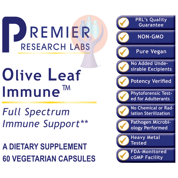 Olive Leaf Immune-Supplement-PRL Labs-Raise the Bar Wellness