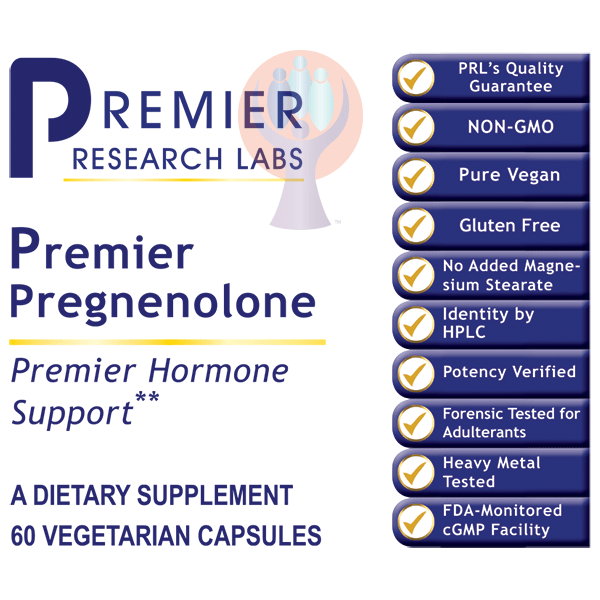 Pregnenolone, Premier-Supplement-PRL Labs-Raise the Bar Wellness