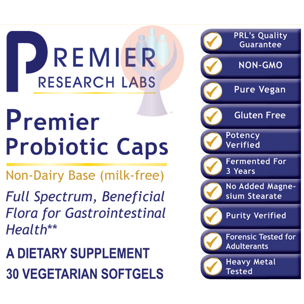Probiotic Caps, Premier-Supplement-PRL Labs-Raise the Bar Wellness