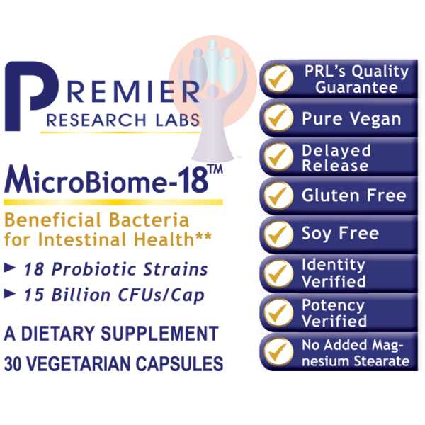 MicroBiome-18-Supplement-PRL Labs-Raise the Bar Wellness