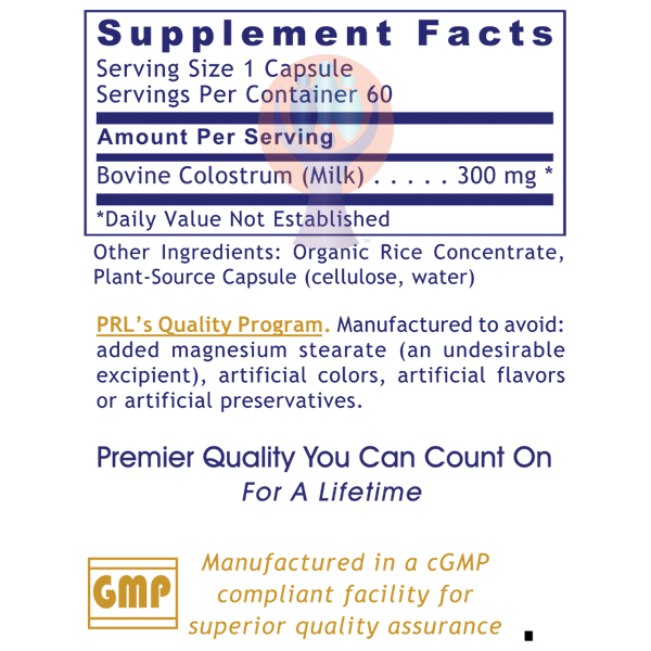 Colostrum IgG-Supplement-PRL Labs-Raise the Bar Wellness