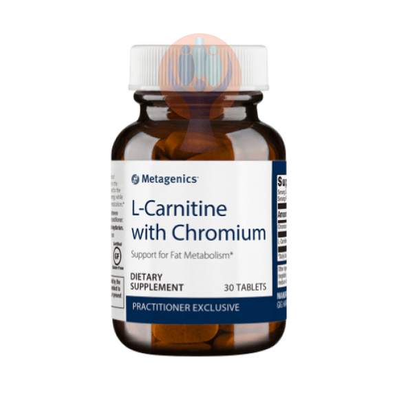 L-Carnitine with Chromium 30 Tablets - Raise the Bar Wellness