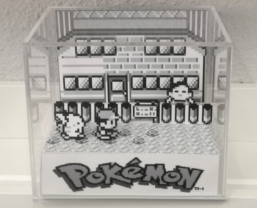 Pokemon Red/Blue Cubic Diorama