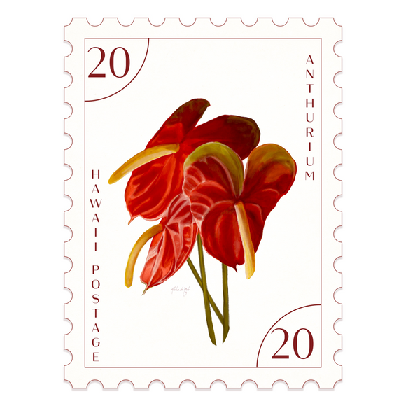 Postal Prints - Anthuriums