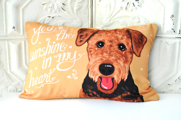 Airedale (Welsh Terrier) Art Pillow