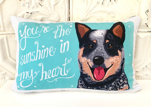 Australian Cattle Dog, Blue Heeler Art Pillow