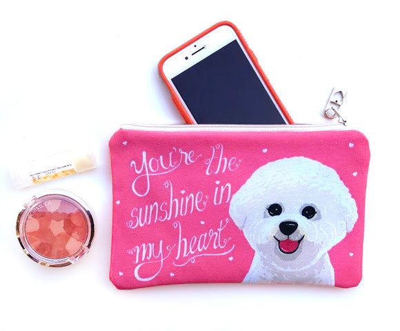 Bichon Frise Art Pouch- You're The Sunshine In My Heart