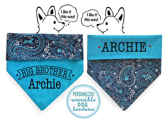 Personalized Stylish Reversible Dog Bandana (Wild Dogs)