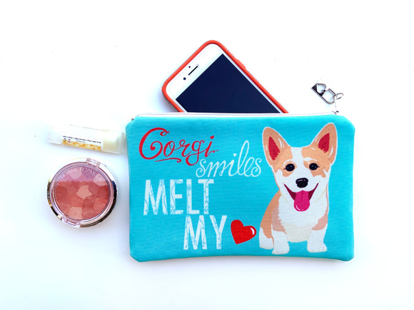 Corgi Art Pouch - Corgi Smiles Melt My Heart
