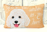 Goldendoodle Art Pillow - You're The Sunshine In My Heart