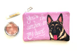 German Shepherd Art Pouch- You're The Sunshine In My Heart