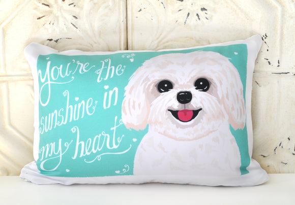 Havenese Art Pillow - You're The Sunshine In My Heart