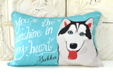 Husky Art Pillow - You're The Sunshine In My Heart