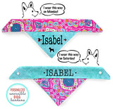Personalized Stylish Reversible Dog Bandana (Growing Love)