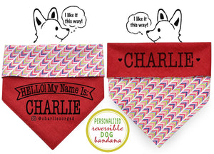 Personalized Stylish Reversible Dog Bandana (One Direction)