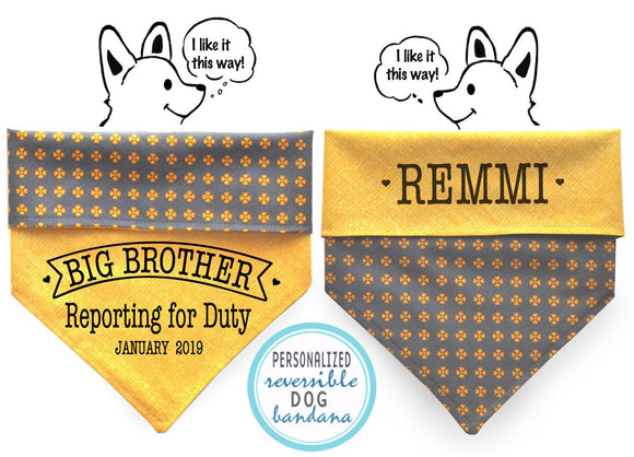 Personalized Stylish Reversible Dog Bandana (Sunny Daisy)