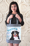 Bernese Art Tote Bag- You Make My Heart Smile