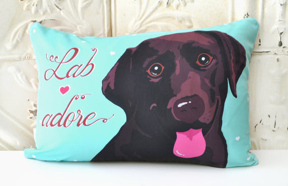 Labrador Art Pillow - Lab adore