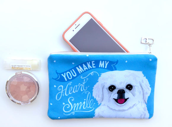 Pekingese Art Pouch- You Make My Heart Smile