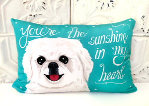 Pekingese Art Pillow - You're The Sunshine In My Heart