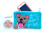 Pit Bull Art Pouch- You're The Sunshine In My Heart