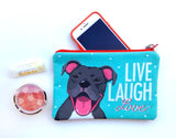 Pitbull Art Pouch- Live, Laugh, Love